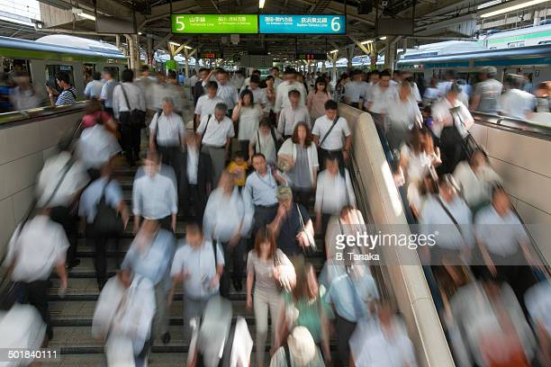 Morning Rush at Tokyo Station in Japan