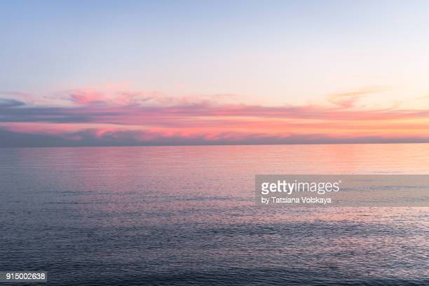 morning sea romantic beautiful background - dusk stock pictures, royalty-free photos & images