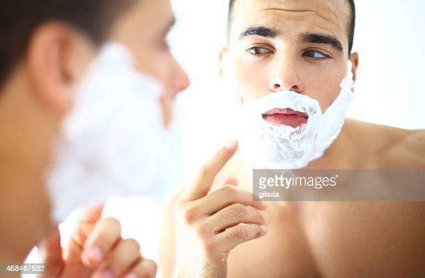 Morning shave.