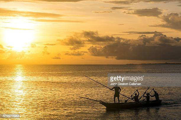morning silhouettes - sierra leone stock pictures, royalty-free photos & images