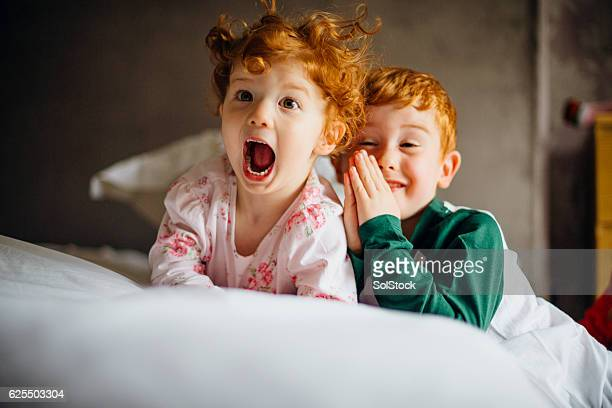 morning silliness - redhead girl stock photos and pictures