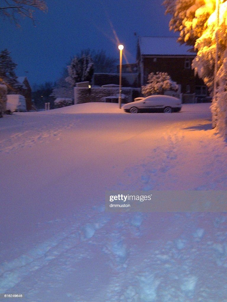 Morning Snow in Britain 2012 : Foto de stock