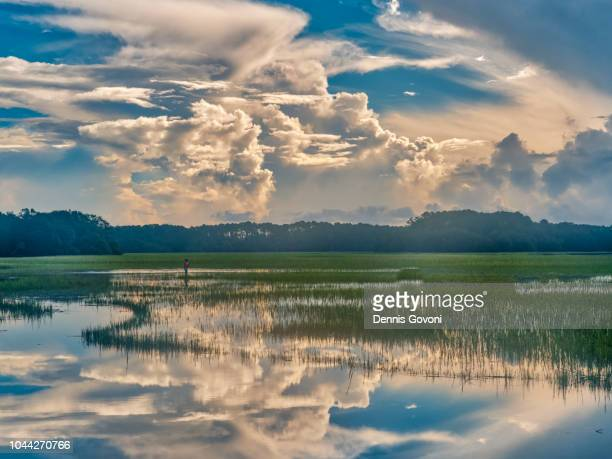 morning storm clouds - hilton head stock pictures, royalty-free photos & images
