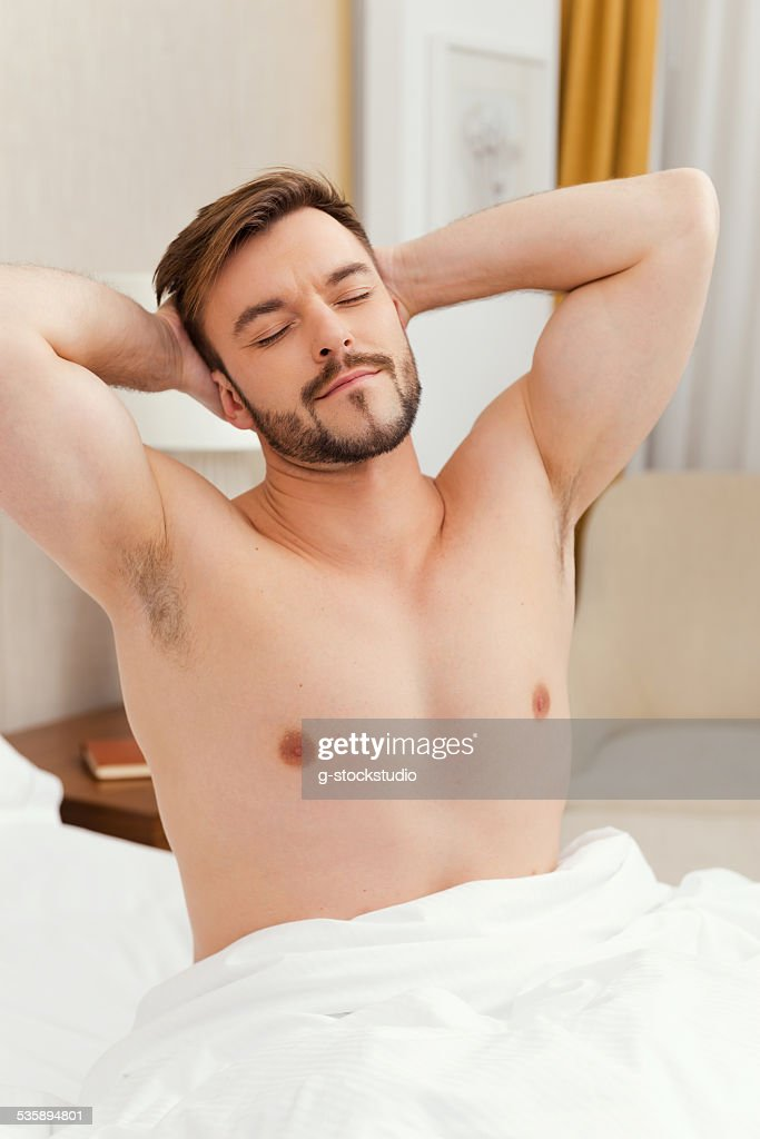 Morning stretching. : Stock Photo