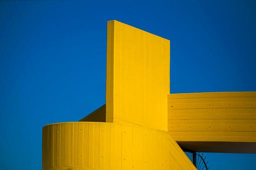 Morning Sun: Riverside Architectural Design, Structure & Shape - gettyimageskorea