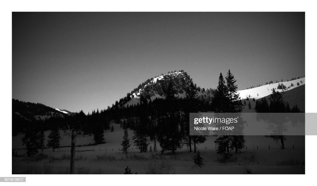 Morning sunrise over the Grand Tetons National park : Stock Photo