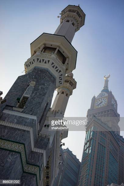 morning view in masjid al-haram - al haram mosque stock photos and pictures