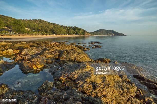 morning view in sibu island of johor, malaysia - shaifulzamri stock pictures, royalty-free photos & images
