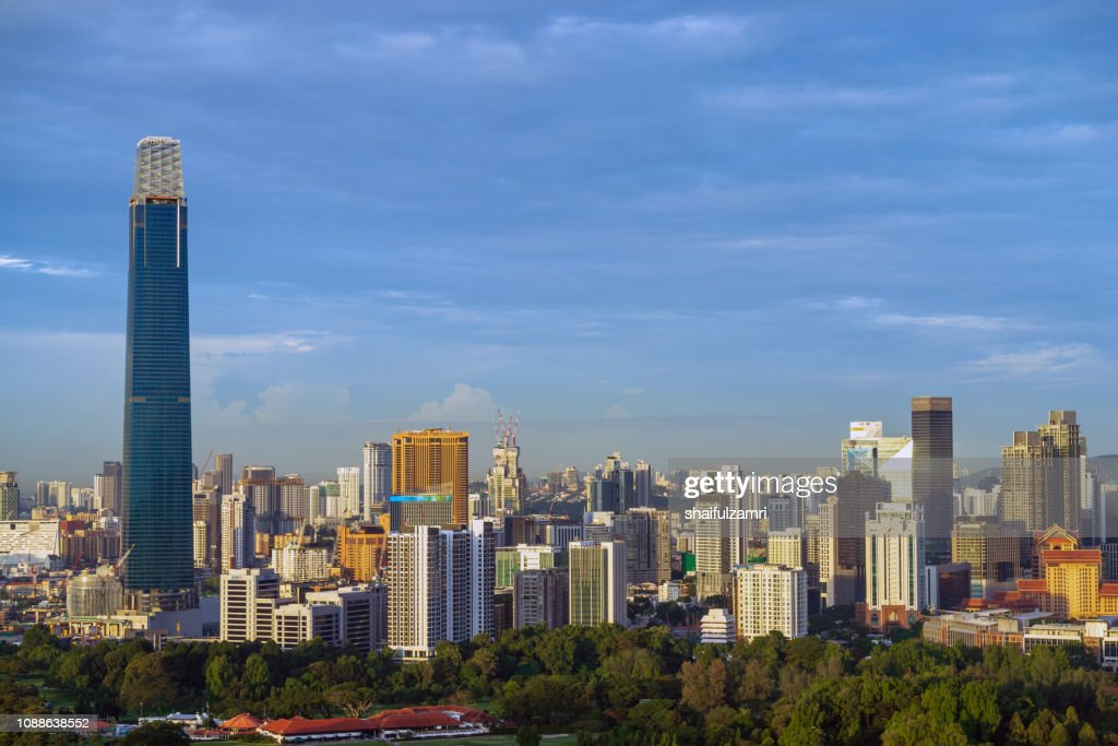 Morning view in the middle of Kuala Lumpur city center , Malaysia : Stock Photo