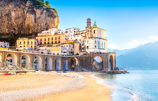 Morning view of Amalfi cityscape, Italy 1126056048