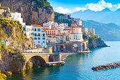 Morning view of Amalfi