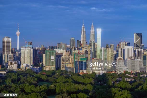 Morning view of downtown Kuala Lumpur, Malaysia.