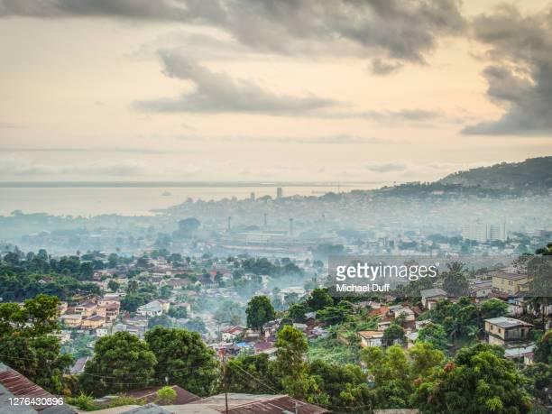 morning view of freetown, sierra leone - シエラレオネ ストックフォトと画像