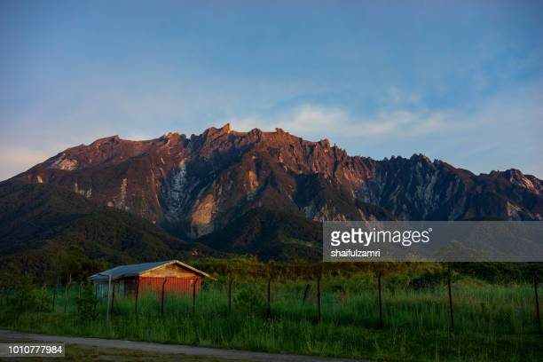 Morning view of Mount Kinabalu at Ranau, Sabah, Malaysia