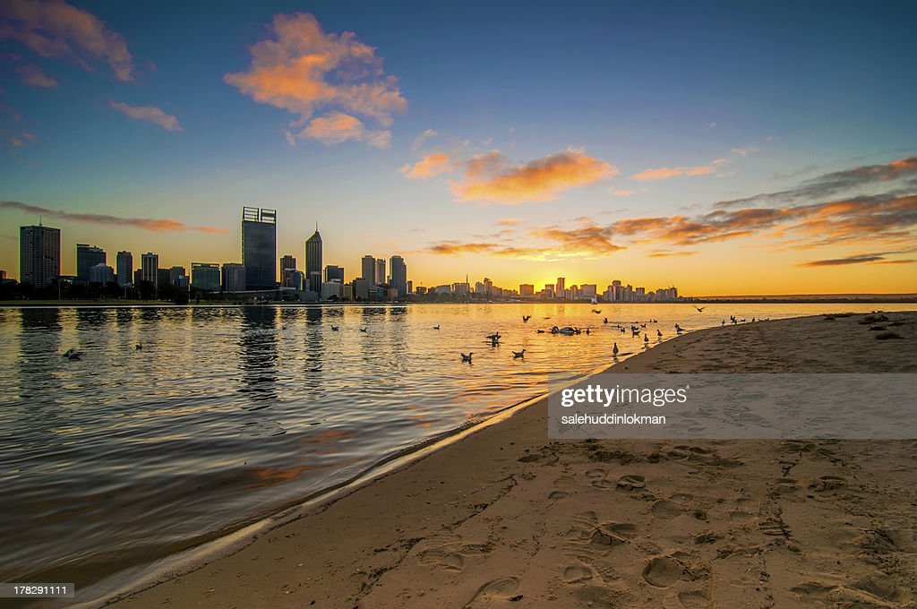 Morning View of Perth City : Stock-Foto