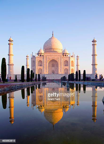 morning view of taj mahal - taj mahal stock pictures, royalty-free photos & images