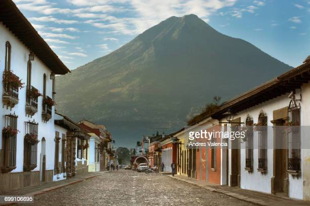 A morning view of the Volcn de Agua from Antigua, Guatemala.