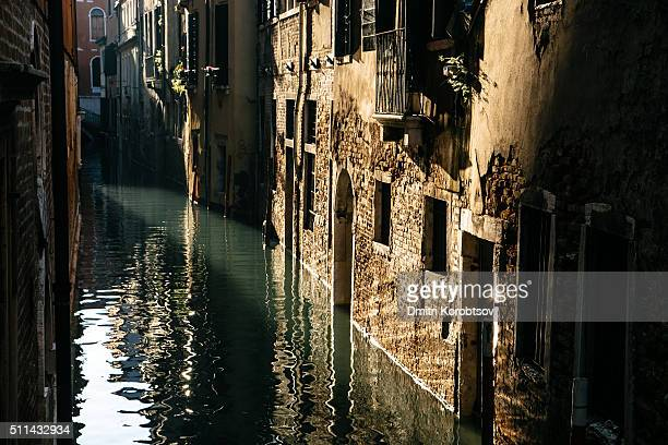Morning view on canal in Venice, Italy