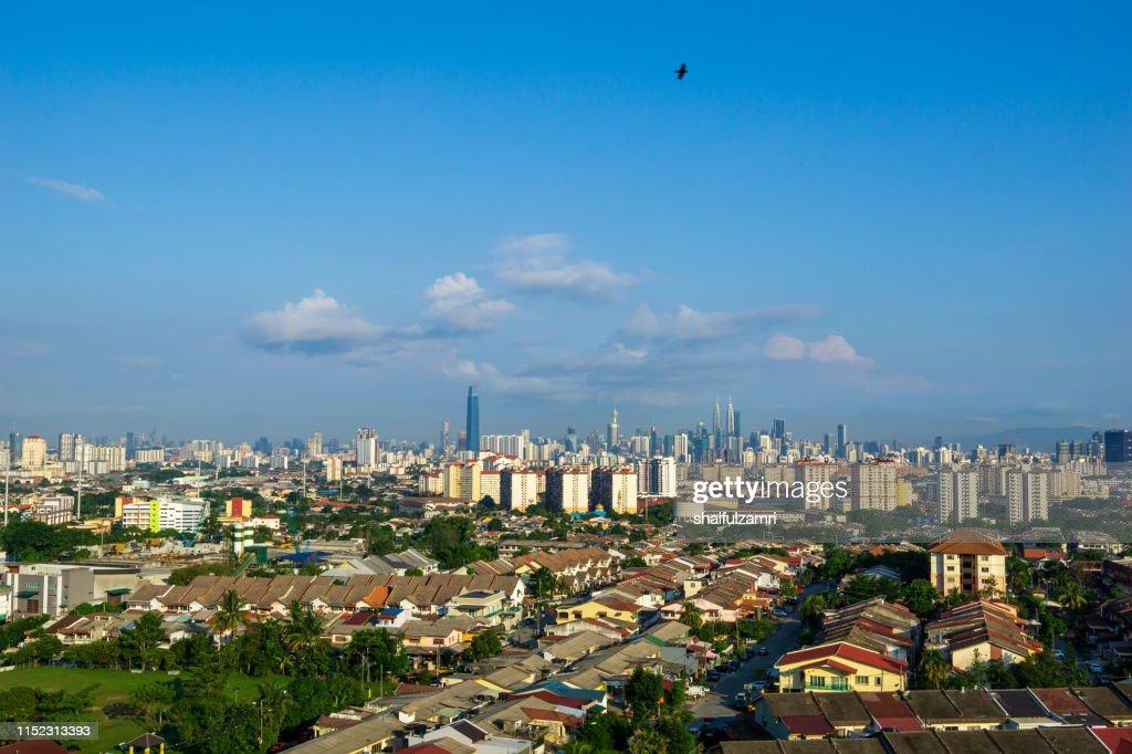 Morning view over downtown Kuala Lumpur, Malaysia : Stock Photo