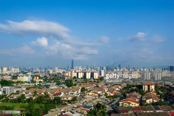 Morning view over downtown Kuala Lumpur, Malaysia