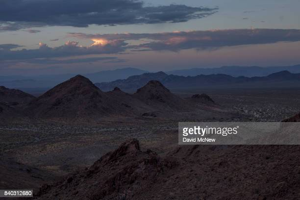 A morning vista is seen from a ridge top in the Trilobite Wilderness region of Mojave Trails National Monument on August 28 2017 near Essex...