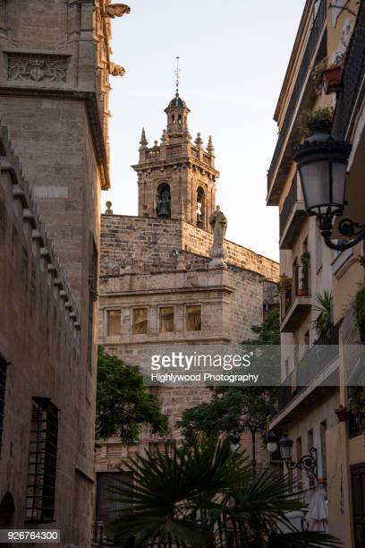 morning walk in old valencia - highlywood stock pictures, royalty-free photos & images
