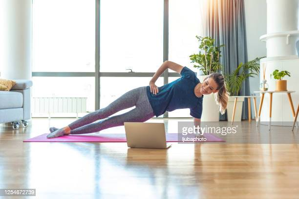 morning workout - flat stomach stock pictures, royalty-free photos & images