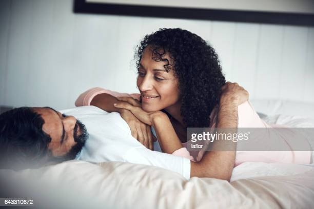 mornings with you are my favorite time of the day - heterosexual couple stock pictures, royalty-free photos & images