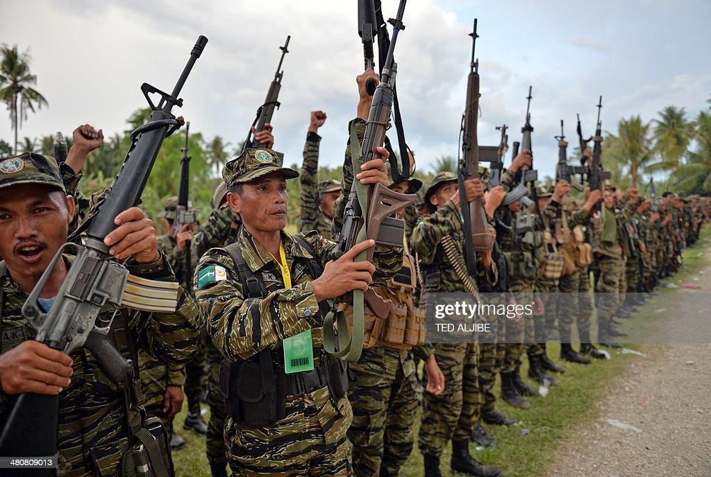 Moro Islamic Liberation Front Milf Rebels Celebrate The Signing Of
