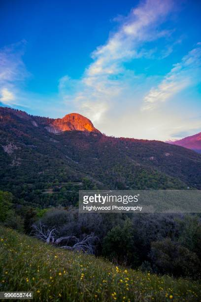 moro rock golden hour - highlywood stock photos and pictures