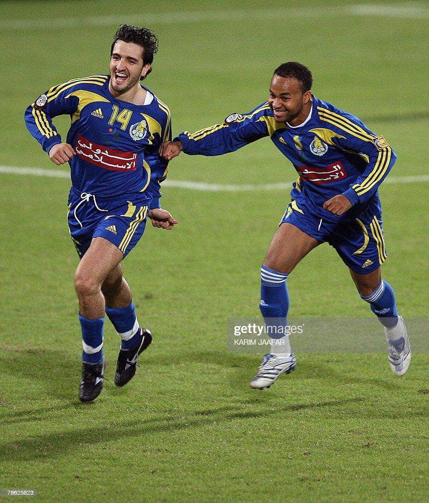 Moroccan Abdul Haq al-Arif of Al-Gharrafa club celebrates ...
