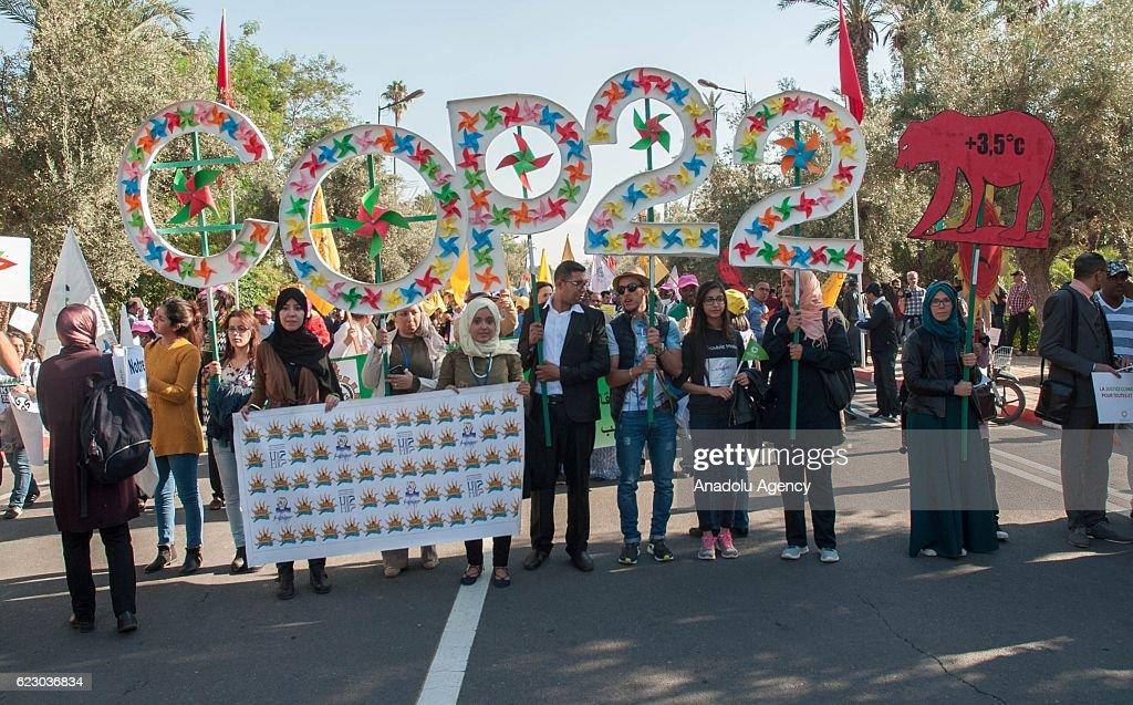 Demonstration in Marrakech : News Photo