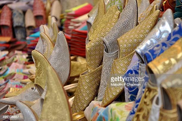 Moroccan Balgha babouche slippers, Meknes, Morocco