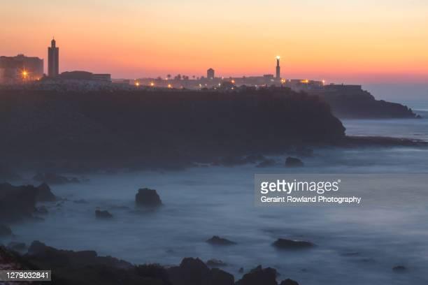 moroccan coastline sunset landscape - ラバト ストックフォトと画像
