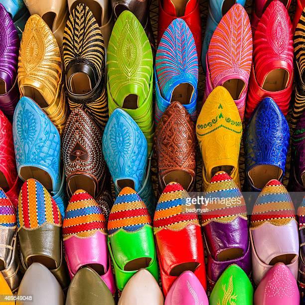 Marokkanische bunte Schuhe, Fes, Marokko