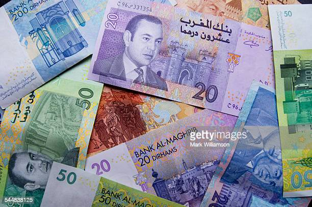 Moroccan currency.