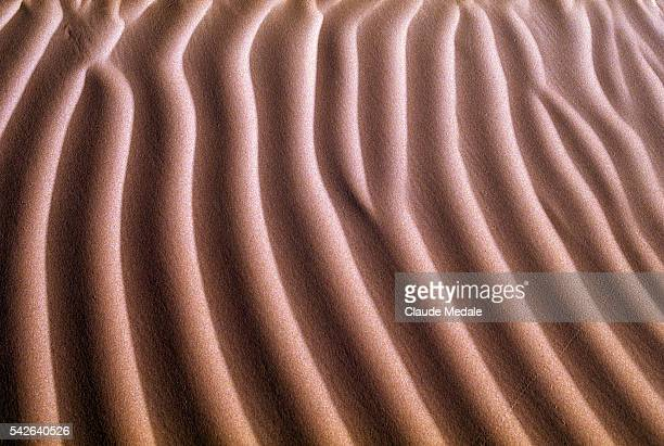 Moroccan desert and sand dune ripples
