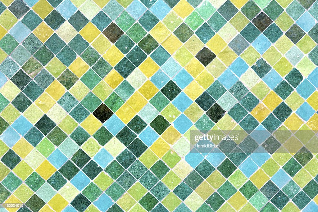 Moroccan floor mosaic as background : Stock Photo