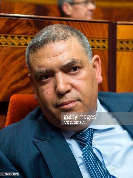 Moroccan Interior Minister Abdelouafi Laftit attends a joint public meeting devoted to the presentation of the government program at the Parliament...