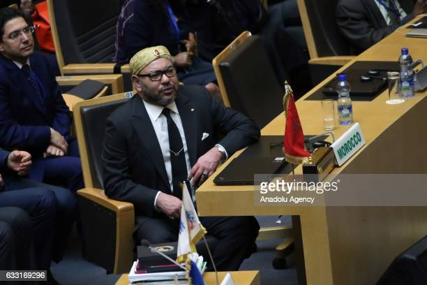 Moroccan King Mohammed VI attends the assembly of the African Union heads of state and government for the first time in 34 years in Addis Ababa...