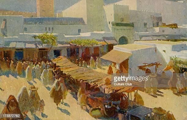 Moroccan market at Sidi El Hach Spanish Morocco