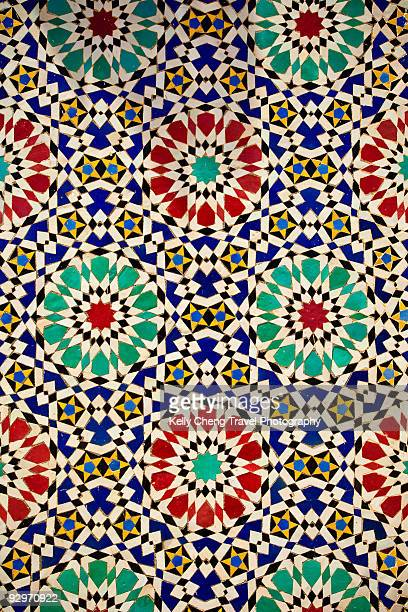 moroccan mosaics - moroccan culture stock photos and pictures