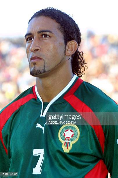 Moroccan Mustapha El Hajji concentrates prior to the match Morocco vs Egypt in their soccer World Cup group 3 qualifier 30 June in Rabat Morrocco won...