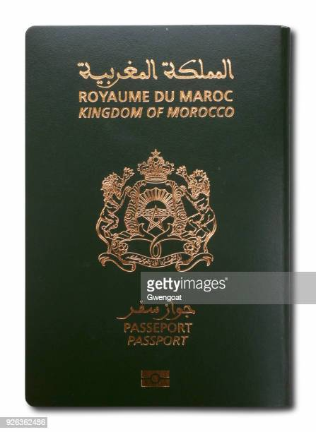 Moroccan passport isolated on a white background