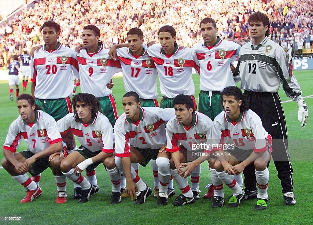 Moroccan players pose 23 June for the official tea : News Photo
