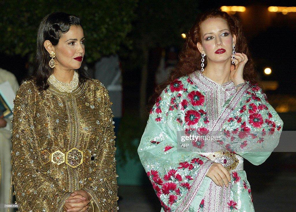 Moroccan Princess Lalla Salma (R) and Pr : News Photo