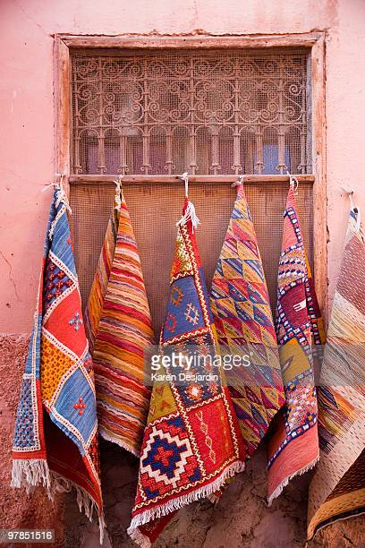 moroccan rugs - woven stock photos and pictures