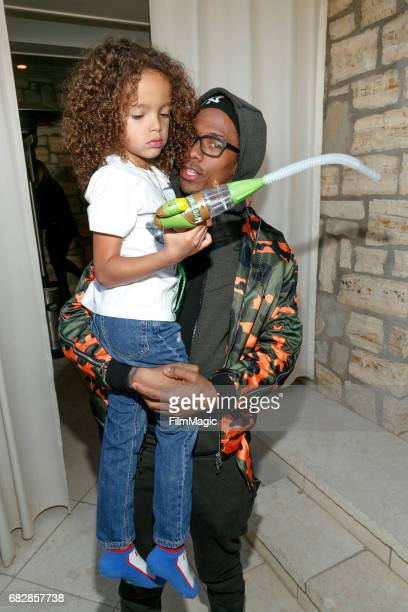 Moroccan Scott Cannon and actor Nick Cannon attend the Moroccan Scott Cannon and Monroe Cannon Party on Mary 13 in Los Angeles California