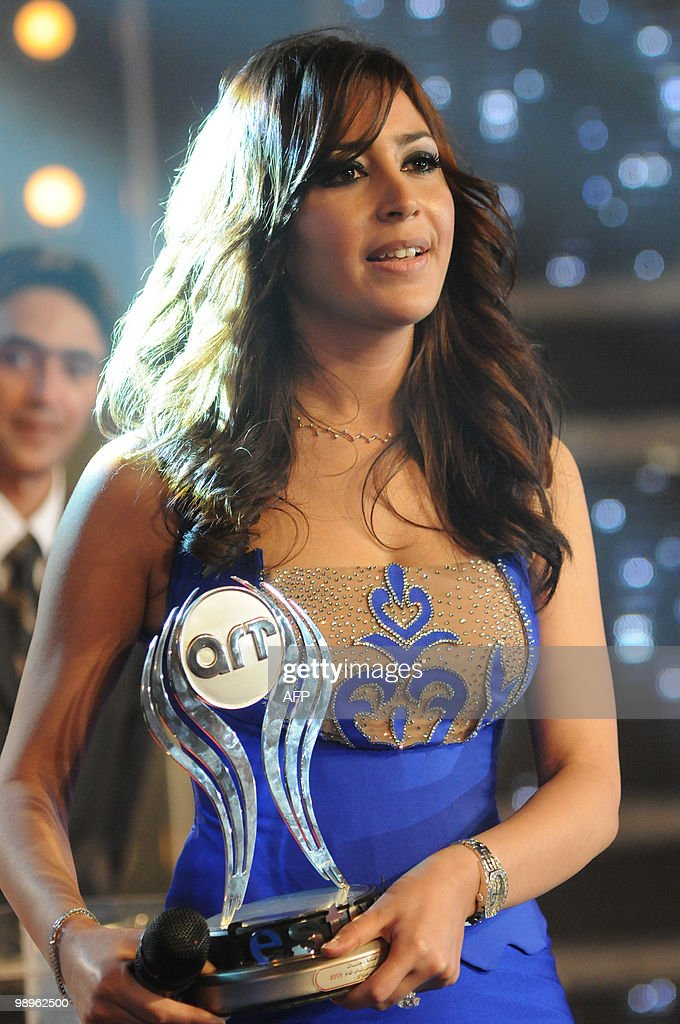 Moroccan singer Jannat poses for a picture after winning the