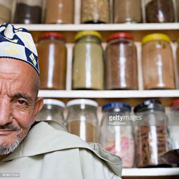 moroccan spice salesman - hugh sitton stockfoto's en -beelden